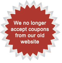 No longer accept coupons from our old website